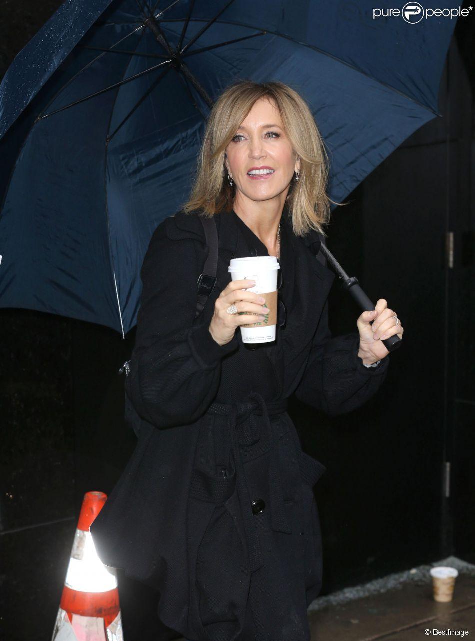"""Felicity Huffman à l'émission """"Good Morning America"""" aux ABC studios à New York, le 4 mars 2015."""