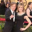 """William H. Macy et sa femme Felicity Huffman à la 21ème cérémonie annuelle des """"Screen Actors Guild Awards"""" à l'auditorium """"The Shrine"""" à Los Angeles, le 25 janvier 2015."""
