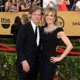 """Felicity Huffman et son mari William H. Macy à la 21ème cérémonie annuelle des """"Screen Actors Guild Awards"""" à l'auditorium """"The Shrine"""" à Los Angeles, le 25 janvier 2015."""