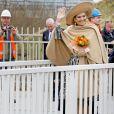 """La reine Maxima des Pays-Bas inaugurait le """"Canal Maxima"""" à Bois-le-Duc le 5 mars 2015."""