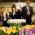 Le roi Willem-Alexander des Pays-Bas assiste à l'ouverture du 35e Jardin de Printemps à Breezand, le 4 mars 2015