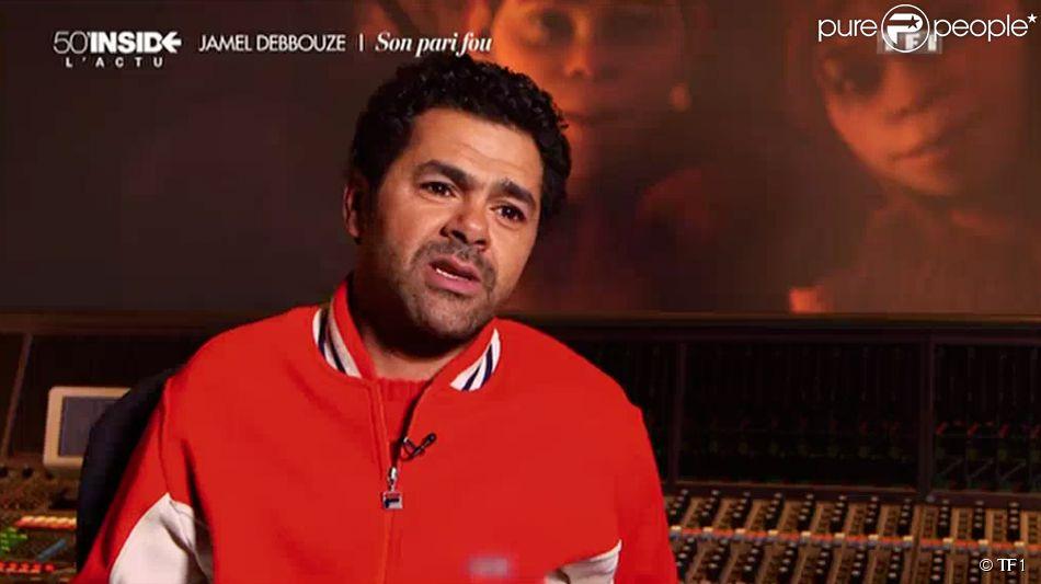 L'humoriste Jamel Debbouze raconte comment sa femme Mélissa Theuriau a obtenu le rôle de sa petite amie dans son film d'animation  Pourquoi j'ai mangé mon père . Emission  50 mn inside  sur TF1, le 8 mars 2015.