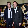 Cyril Féraud et Franck Ferrand au Gala de l'enfance maltraitée à la Salle Gaveau à Paris le 9 mars 2015.