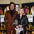 Nicoletta et son mari Jean-Christophe Molinier au Gala de l'enfance maltraitée à la Salle Gaveau à Paris le 9 mars 2015.