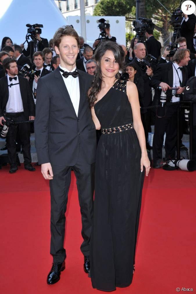 romain grosjean et marion joll s au palais des festivals cannes le 22 mai 2012. Black Bedroom Furniture Sets. Home Design Ideas