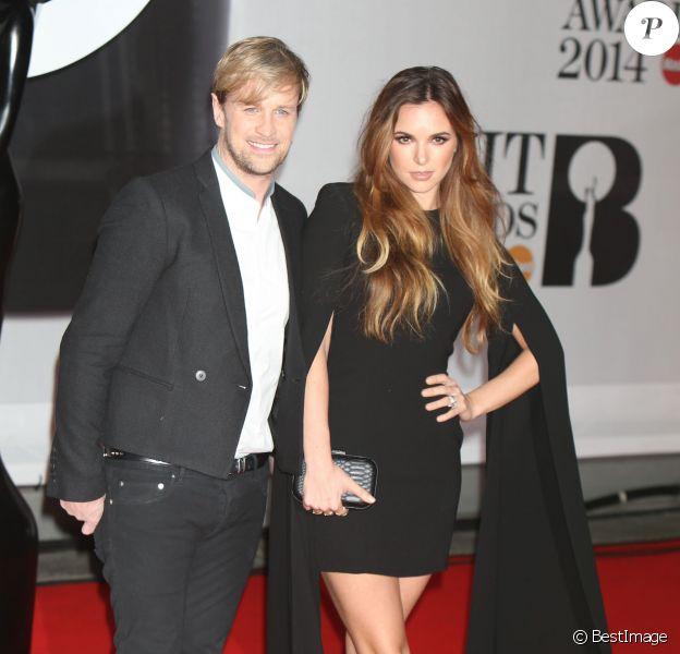 """Jodi Albert et son mari Kian Egan arrivant à la soirée des """"Brit Awards 2014"""" en partenariat avec MasterCard à Londres, le 19 février 2014."""