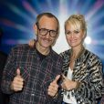"Terry Richardson et Laeticia Hallyday - Vernissage des expositions ""Music"" de Xavier Veilhan et ""The sacred and the profane"" de Terry Richardson à la Galerie Perrotin, à Paris le 6 mars 2015."