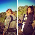 Zoe Saldana a ajouté une photo à son compte Instagram en compagnie de son mari Marco Perego et leurs jumeaux, le 13 février 2015