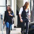 Exclusif - Zoe Saldana et son mari Marco Perego se promènent à Beverly Hills, le 20 mars 2015.