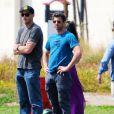 L'acteur américain Patrick Dempsey est allé voir son fils Luke jouer au football à Los Angeles, le 22 mars 2015
