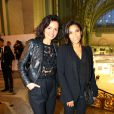 Laurence Roustandjee, Audrey Chauveau lors de la soirée Diamond Night by Divinescence Vendôme lors du Paris Art Fair au Grand Palais à Paris, le 26 mars 2015