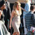"""Jennifer Lopez arrive sur le plateau de l'émission """"American Idol"""" à West Hollywood, le 25 mars 2015."""