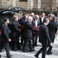 """Obsèques de la navigatrice Florence Arthaud en l'église Saint-Séverin à Paris, le 30 mars 2015. Florence Arthaud est décédée lors du crash d'hélicoptères en Argentine le 9 mars dernier pendant le tournage du jeu de TF1 """"Dropped""""."""