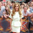 """Cheryl Cole Fernandez-Versini arrive aux auditions pour l'émission """"X Factor"""" au Wembley Arena à Londres, le 1er août 2014."""