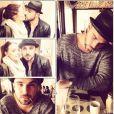 Alexia ( Secret Story 7 ) prend la pose avec son amoureux. Mars 2015.