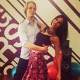 Leila Ben Khalifa et son partenaire de  Danse avec les stars  au Liban, le 11 mars 2015 au Liban.