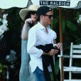 Liv Tyler et son compagnon Dave Gardner passent leurs vacances à Miami avec leurs fils respectifs, un mois après la naissance de leur enfant Sailor. Photo du 4 avril 2015.