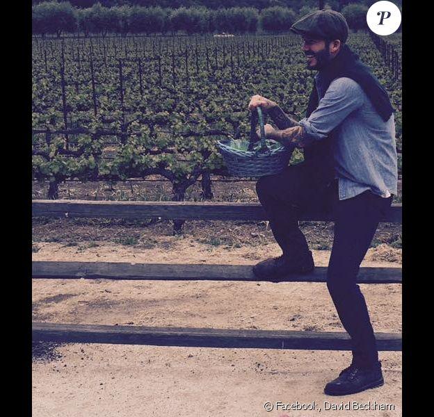 David Beckham et sa récolte de Pâques, photo publiée sur son compte Facebook le 5 avril 2015