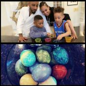 Alicia Keys : Atelier peinture avec Swizz Beatz et leurs fils Egypt et Kasseem