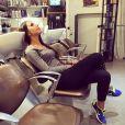 Somayeh (Les Anges 7) chez le coiffeur le 6 avril 2015