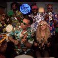 """Madonna dans """"The Tonight Show"""", l'émission de Jimmy Fallon sur NBC, le 9 avril 2015."""