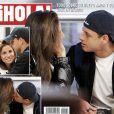 """Lucia Villalon et Javier Hernandez amoureux en couverture du magazine """"Hola"""" - avril 2015"""