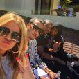 Khloé Kardashian, French Montana, Chinx, Malika Haqq et Diddy en week-end à Miami. Photo publiée le 31 mars 2015.