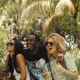 Cassie, Diddy et Khloé Kardashian à Miami. Photo publiée le 30 mars 2015.
