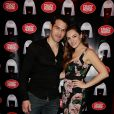 Kelly Brook et son petit ami Jeremy Parisi au Crazy Horse, à Paris, le 10 avril 2015