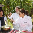 """Exclusif - Sofia Essaïdi, Aïda Touihri - Le célèbre chef tropézien Christophe Leroy a organisé à Marrakech un week-end de fête pour la pose de la première pierre de son école de cuisine franco-marocaine dans son hôtel restaurant le """"Jardin d'Ines"""" à Marrakech au Maroc le 11 avril 2015."""