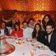 """Exclusif - Sofia Essaïdi, Pascal Legitimus - Le célèbre chef tropézien Christophe Leroy a organisé à Marrakech un week-end de fête pour la pose de la première pierre de son école de cuisine franco-marocaine dans son hôtel restaurant le """"Jardin d'Ines"""" à Marrakech au Maroc le 11 avril 2015."""