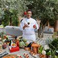 """Exclusif - Benoît Chaigneau - Le célèbre chef tropézien Christophe Leroy a organisé à Marrakech un week-end de fête pour la pose de la première pierre de son école de cuisine franco-marocaine dans son hôtel restaurant le """"Jardin d'Ines"""" à Marrakech au Maroc le 11 avril 2015."""