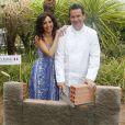 """Exclusif - Aïda Touihri - Le célèbre chef tropézien Christophe Leroy a organisé à Marrakech un week-end de fête pour la pose de la première pierre de son école de cuisine franco-marocaine dans son hôtel restaurant le """"Jardin d'Ines"""" à Marrakech au Maroc le 11 avril 2015."""