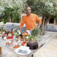 """Exclusif - Pascal Legitimus - Le célèbre chef tropézien Christophe Leroy a organisé à Marrakech un week-end de fête pour la pose de la première pierre de son école de cuisine franco-marocaine dans son hôtel restaurant le """"Jardin d'Ines"""" à Marrakech au Maroc le 11 avril 2015."""