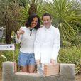 """Exclusif - Laurence Roustandjee - Le célèbre chef tropézien Christophe Leroy a organisé à Marrakech un week-end de fête pour la pose de la première pierre de son école de cuisine franco-marocaine dans son hôtel restaurant le """"Jardin d'Ines"""" à Marrakech au Maroc le 11 avril 2015."""