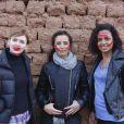 """Exclusif - Annabelle Milot, Laurence Roustandjee et Aïda Touihri - Le célèbre chef tropézien Christophe Leroy a organisé à Marrakech un week-end de fête pour la pose de la première pierre de son école de cuisine franco-marocaine dans son hôtel restaurant le """"Jardin d'Ines"""" à Marrakech au Maroc le 11 avril 2015."""