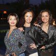 """Exclusif - Saïda Jawad, Laurence Roustandjee et Aïda Touihri - Le célèbre chef tropézien Christophe Leroy a organisé à Marrakech un week-end de fête pour la pose de la première pierre de son école de cuisine franco-marocaine dans son hôtel restaurant le """"Jardin d'Ines"""" à Marrakech au Maroc le 11 avril 2015."""