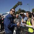 """L'acteur américain Bill Paxton lors du photocall de la série """"Texas Rising"""" dans le cadre du MIPTV 2015 à Cannes le 13 avril 2015 qui se déroule au Palais des Festivals du 13 au 16 mai."""