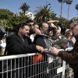 """L'acteur et producteur américain Ray Liotta et l'acteur américain Bill Paxton lors du photocall de la série """"Texas Rising"""" dans le cadre du MIPTV 2015 à Cannes le 13 avril 2015 qui se déroule au Palais des Festivals du 13 au 16 mai."""