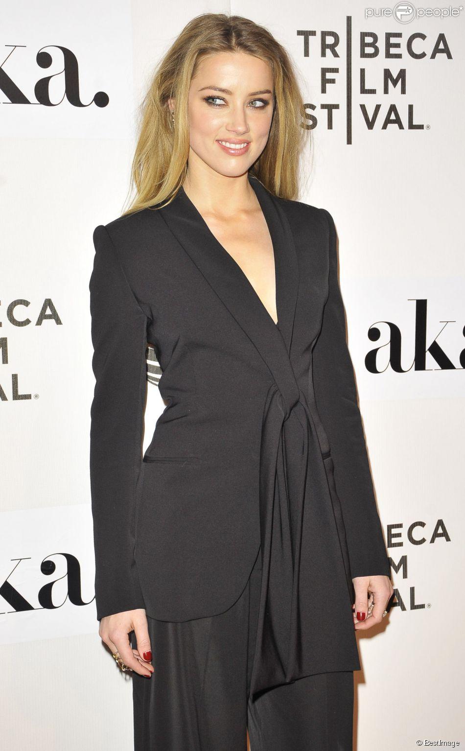 """Amber Heard à la première de """"The Adderall Diaries"""" lors du Festival du film Tribeca 2015 à New York, le 16 avril 2015."""