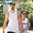 Lea Michele et son petit ami Matthew Paetz à Beverly Hills Los Angeles, le 18 avril 2015