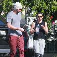 Exclusif - Lea Michele et son petit ami Matthew Paetz à la sortie d'un Spa à Los Angeles, le 8 mars 2015