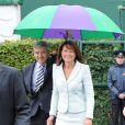 Carole et Michael Middleton au tournoi de Wimbledon le 27 juin 2014