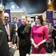 La princesse Mary de Danemark lors du lancement du prix Research Day and Communication Award à l'université de technologie du Danemark à Lyngby, le 23 avril 2015