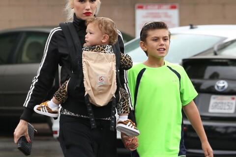 Gwen Stefani : Maman modèle, elle aide un SDF devant Apollo et Kingston