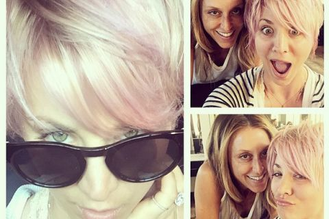 Kaley Cuoco vire au rose : La blondissime actrice succombe à son tour...