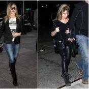 Jennifer Aniston, 46 ans : En slim cuir ou jean délavé, elle est au top !