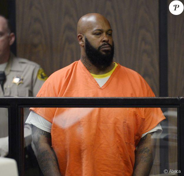Suge Knight en comparution au tribunal de Compton. Le 3 février 2015.