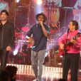 Exclusif - Chico and the Gypsies et Jessy Matador à l'enregistrement de l'émission  Les Années Bonheur  à La Plaine Saint-Denis le 24 mars 2015. Emission diffusée le 2 mai 2015.