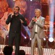 Exclusif - Jean-Jacques Lafon, Chico et les Gypsies à l'enregistrement de l'émission  Les Années Bonheur  à La Plaine Saint-Denis le 24 mars 2015. Emission diffusée le 2 mai 2015.